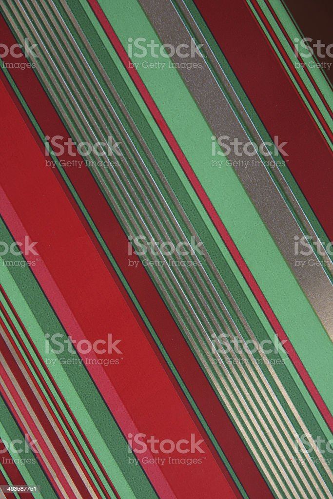 Diagonal stripes in traditional Christmas colours royalty-free stock photo