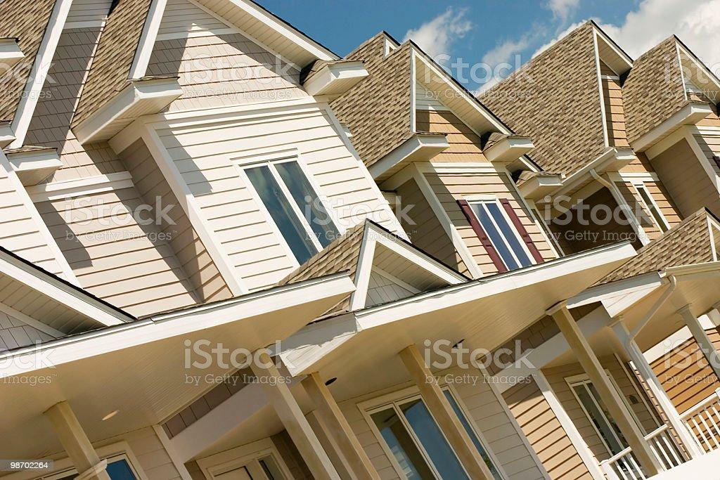 Diagonal Townhouses royalty-free stock photo