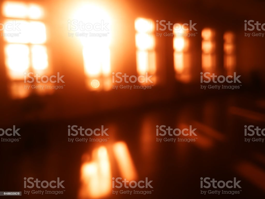 Diagonal windows light leak bokeh background stock photo