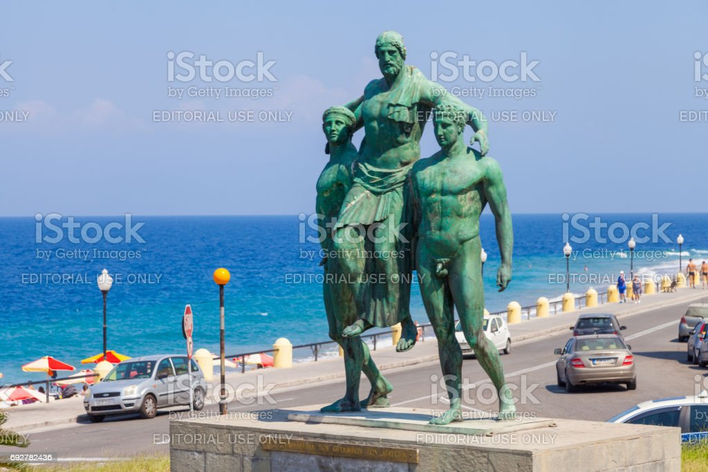 Diagoras family monument, Rhodes, Greece stock photo