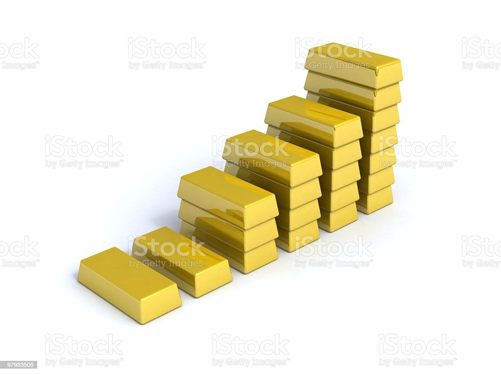 Diagram from gold bullions royalty-free stock photo