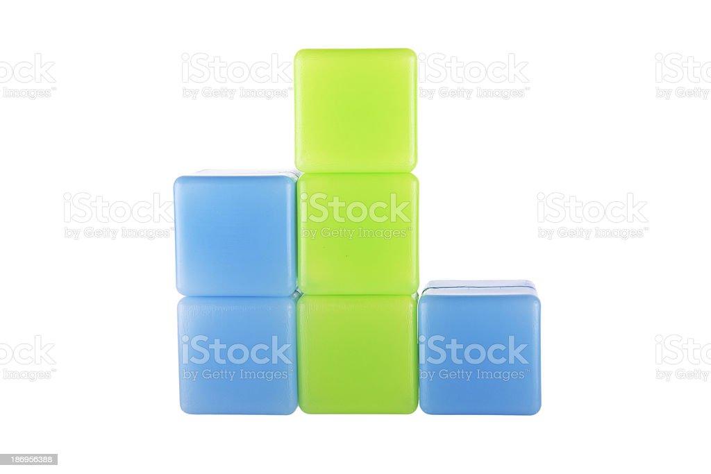 Diagram made of plastic building blocks royalty-free stock photo