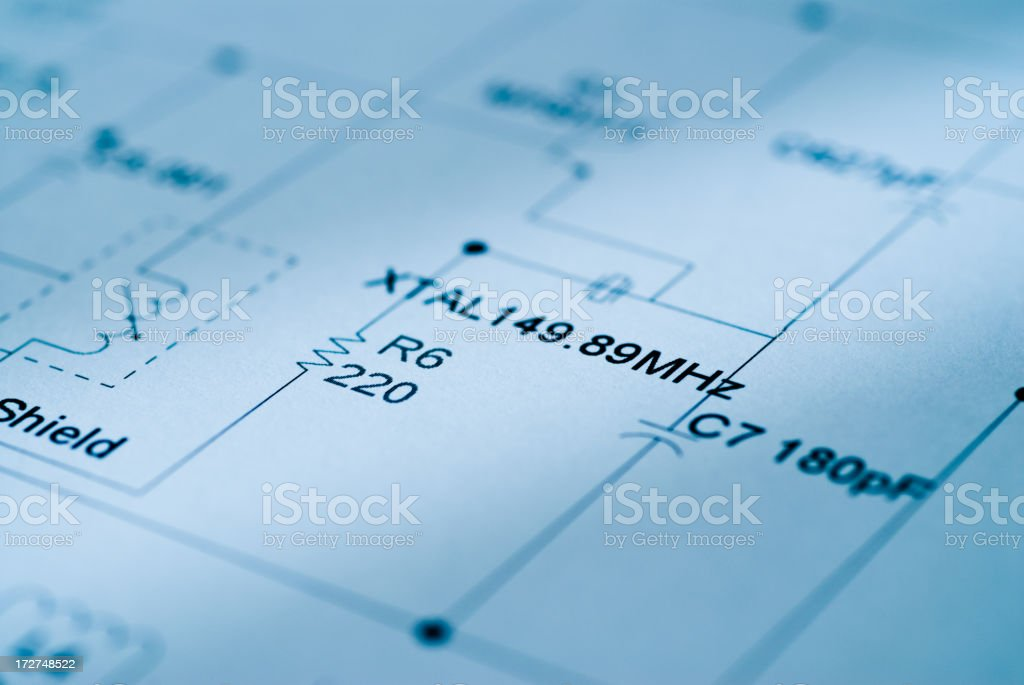 Diagram of Circuitry royalty-free stock photo