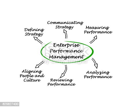 istock Diagram of Enterprise Performance Management 825827400