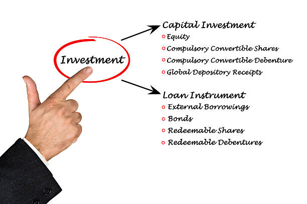 Diagram of Investment Diagram of Investment debenture stock pictures, royalty-free photos & images
