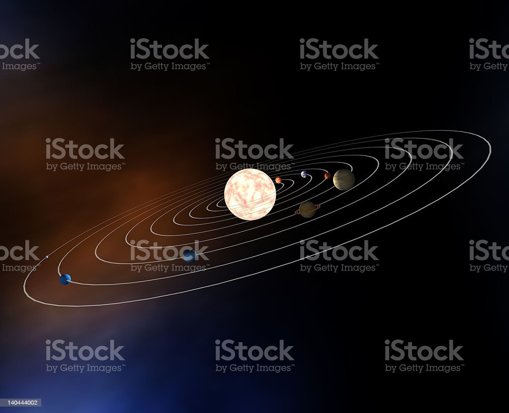 Diagram Of Planets In The Solar System Stock Photo More Pictures Royalty Free