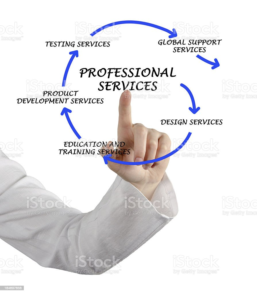 Diagram of professional services stock photo
