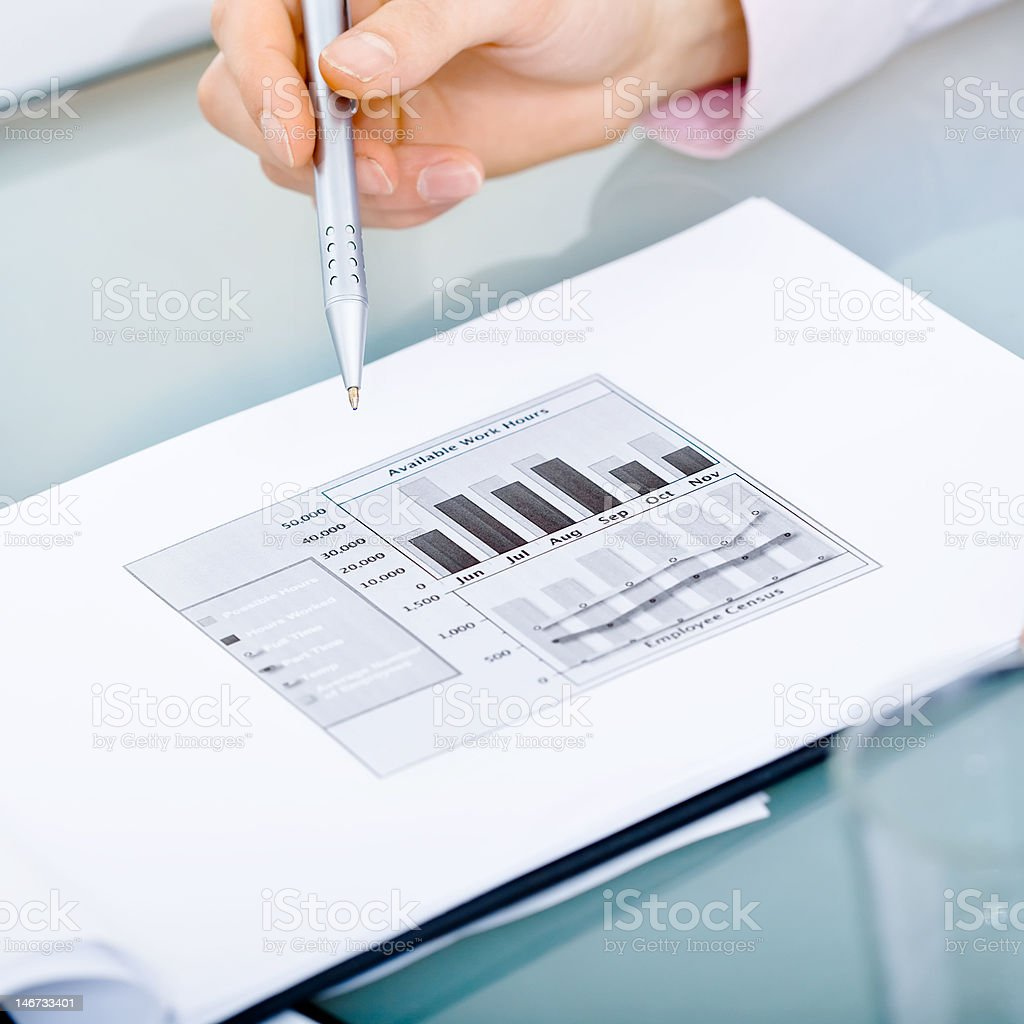 Diagram on table royalty-free stock photo