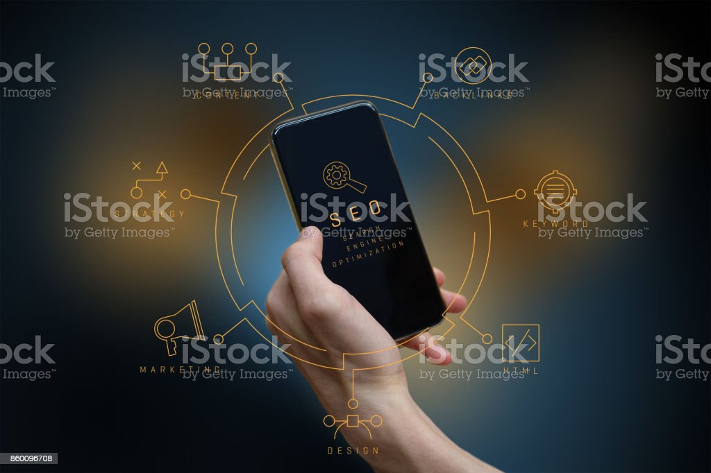 SEO Diagram stock photo