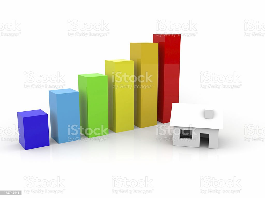 Diagram with house royalty-free stock photo