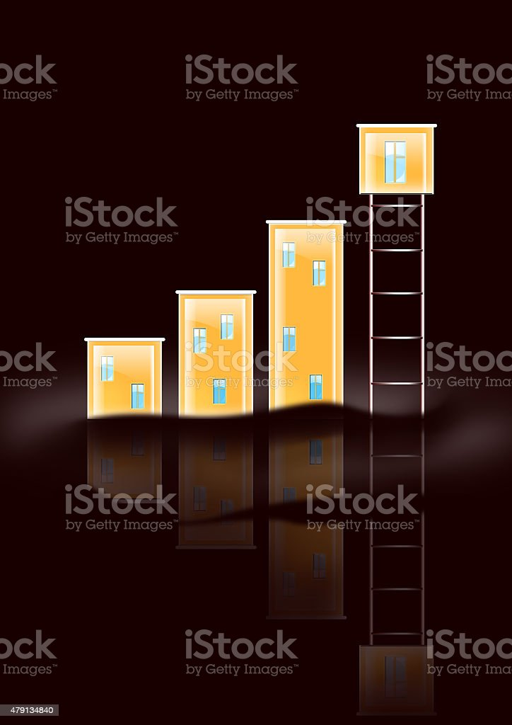 Diagram With Houses stock photo