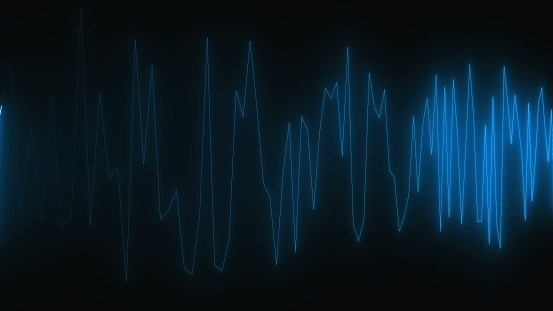 istock Diagram with lighting, cardiogram effect, creative for medical design, 3d computer generated background 1140215423