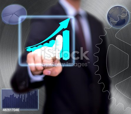 istock Diagrams, charts and maps on whiteboard 482517046