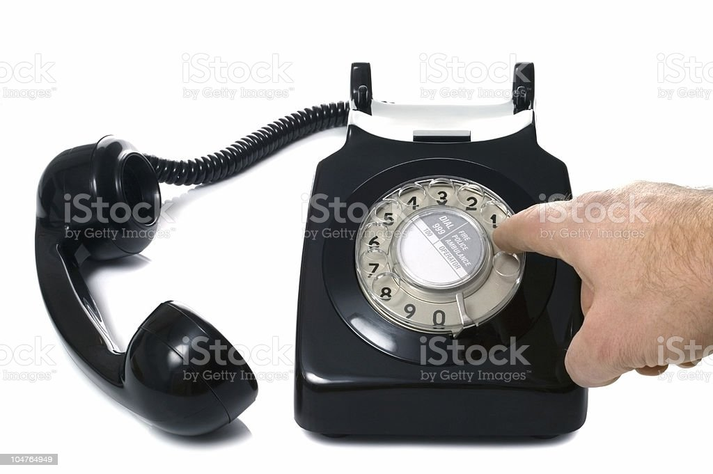 Dial a number stock photo