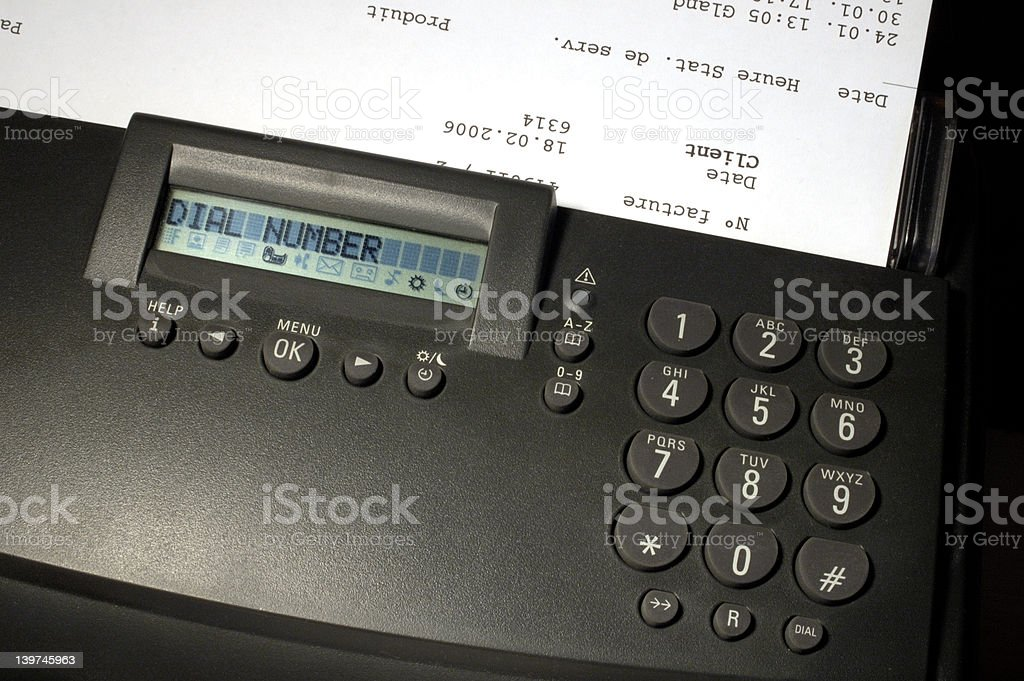 Dial number ... stock photo