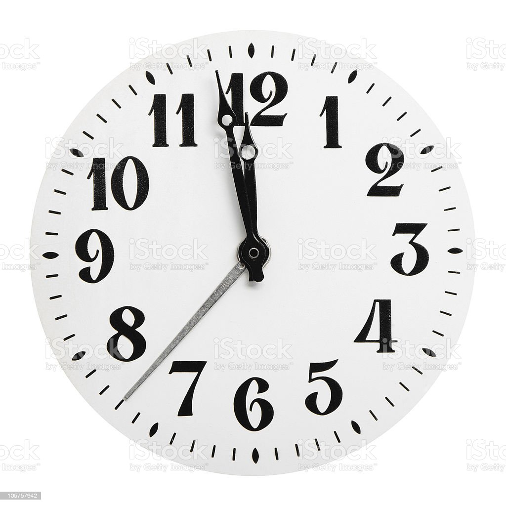 Dial of analog hours royalty-free stock photo