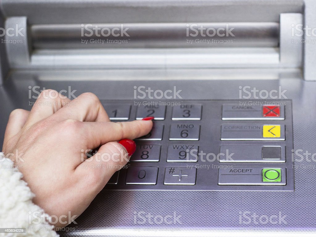 ATM dial royalty-free stock photo