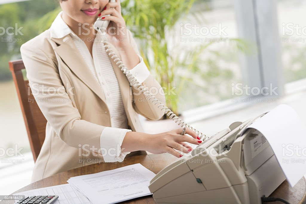 Dialing number stock photo