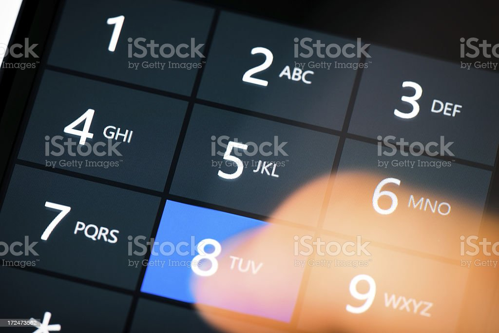 Dialing royalty-free stock photo