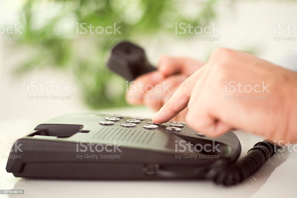 Dialing stock photo