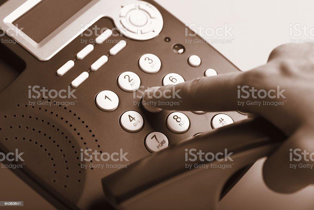 Dialing , sepia tint stock photo