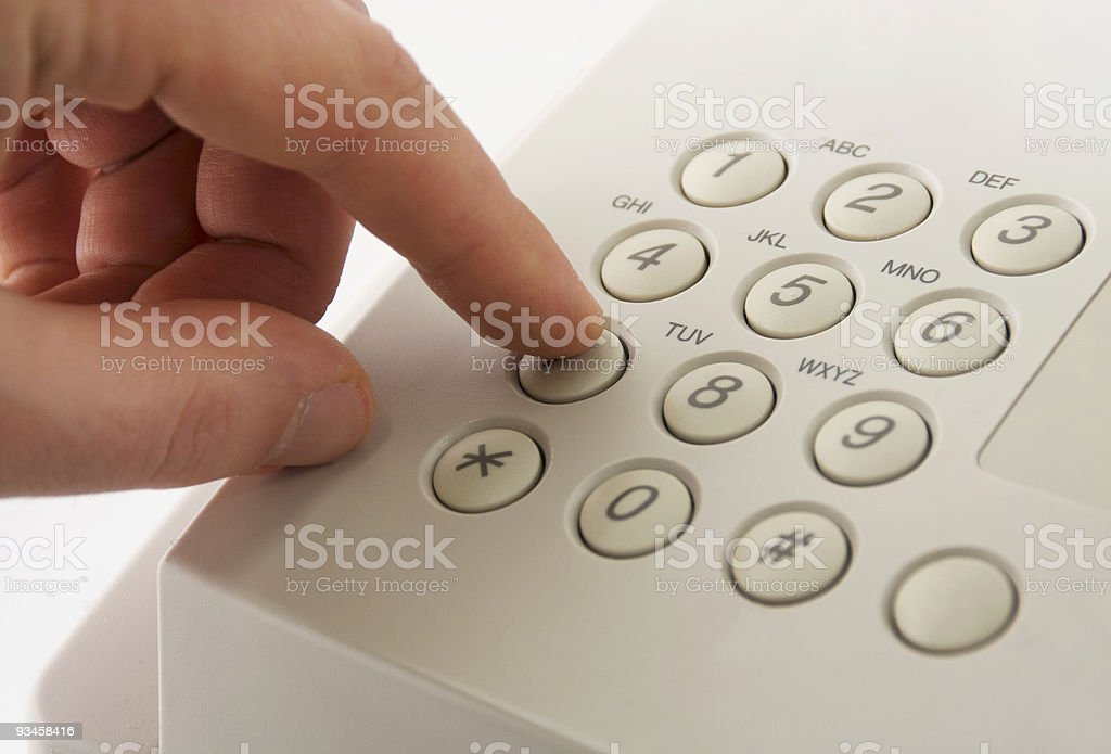 Dialing seven royalty-free stock photo