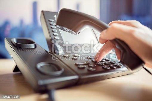 istock Dialing telephone keypad 639011742
