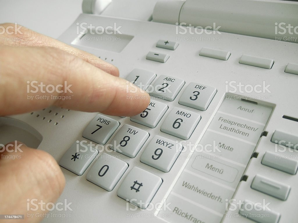 dialing telephone number royalty-free stock photo