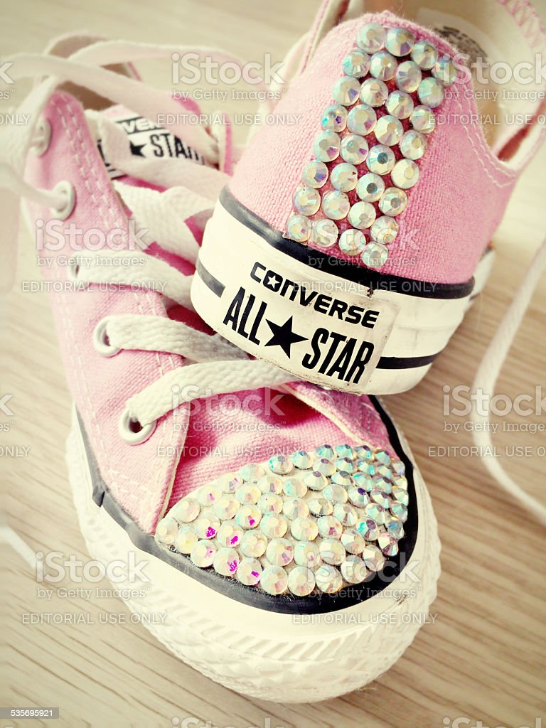 Diamante Converse All Star Trainers Stock Photo   More Pictures of ... 7d40c70172