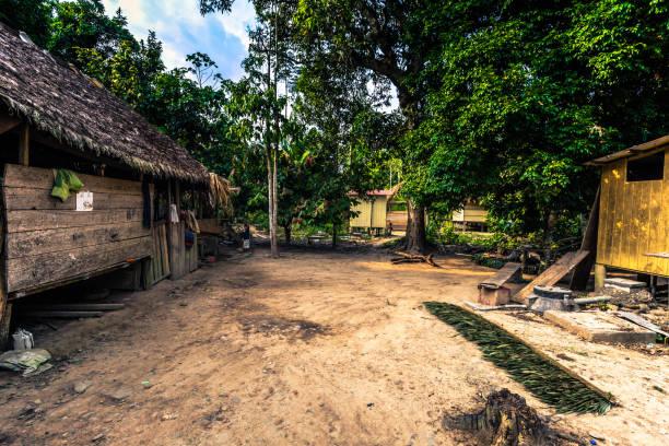 Manu Nationalpark Peru - 9. August 2017: Diamante Dorf im Amazonas-Regenwald von Manu Nationalpark Peru – Foto