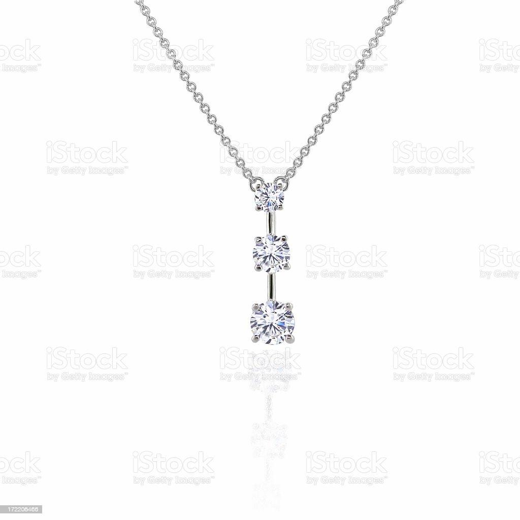 Diamond 3 Stone Pendant stock photo