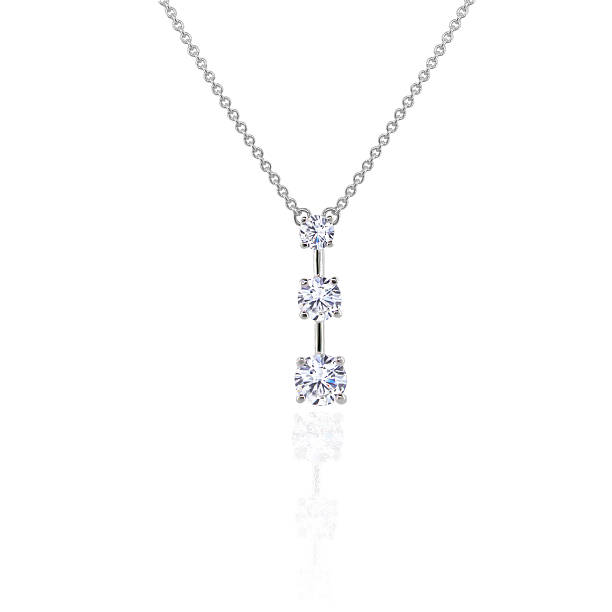 Diamond 3 Stone Pendant  amulet stock pictures, royalty-free photos & images