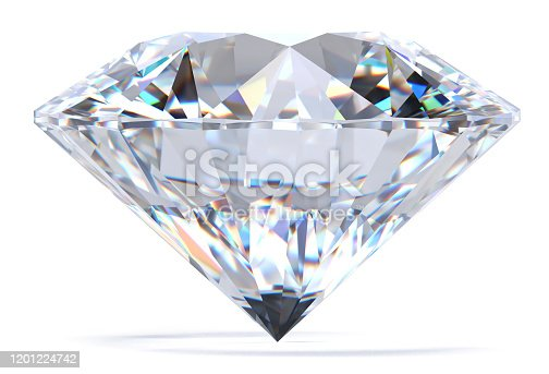 diamond, 3d, rendering, isolated, white background