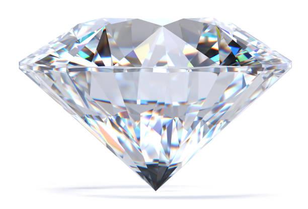 diamond 3d rendering - białe tło zdjęcia i obrazy z banku zdjęć