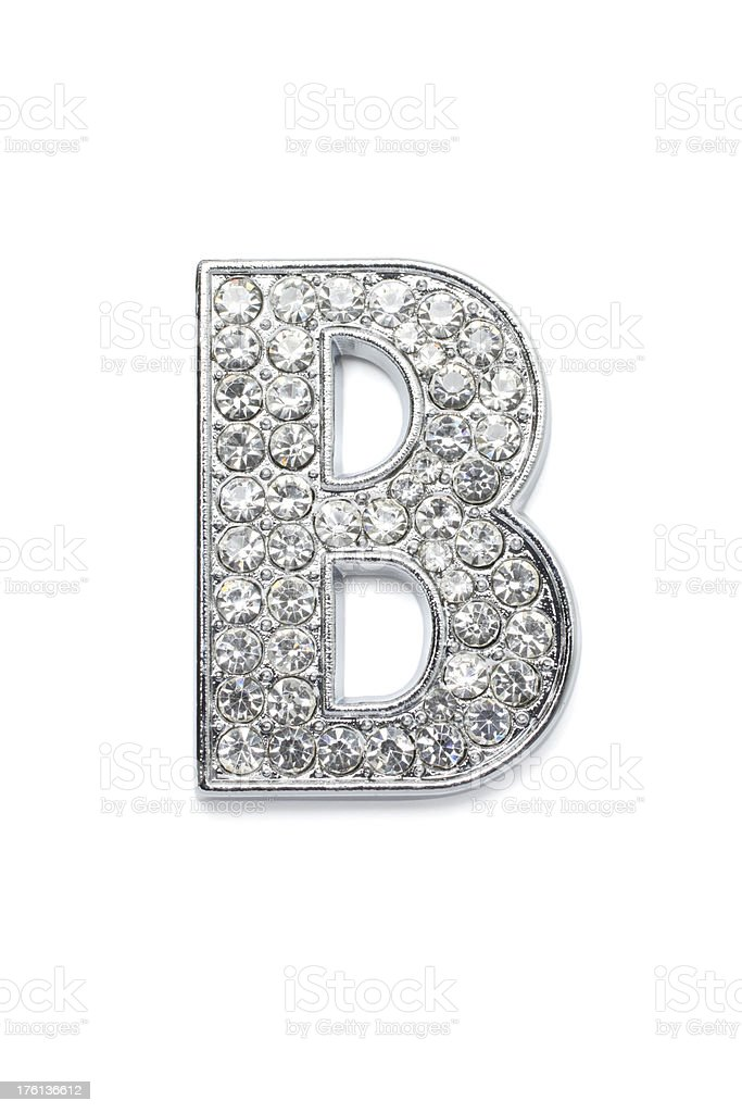Diamond Alphabet B royalty-free stock photo