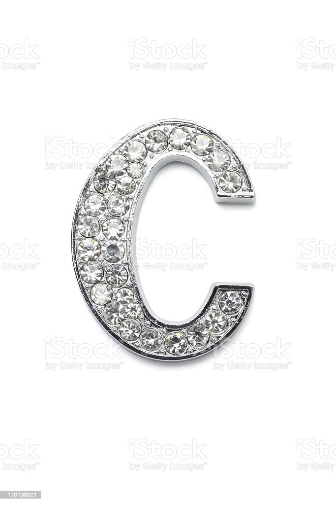 Diamond Alphabet C royalty-free stock photo