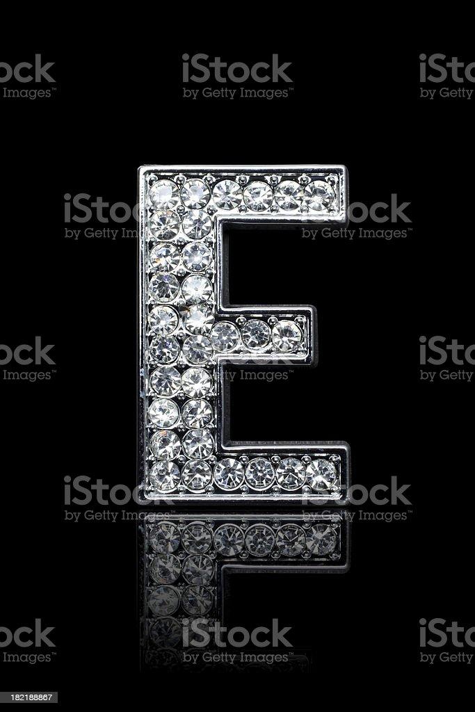 Diamond Alphabet E royalty-free stock photo