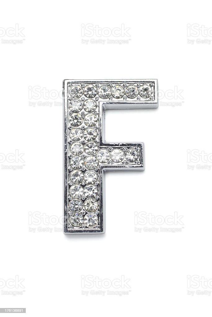 Diamond Alphabet F stock photo