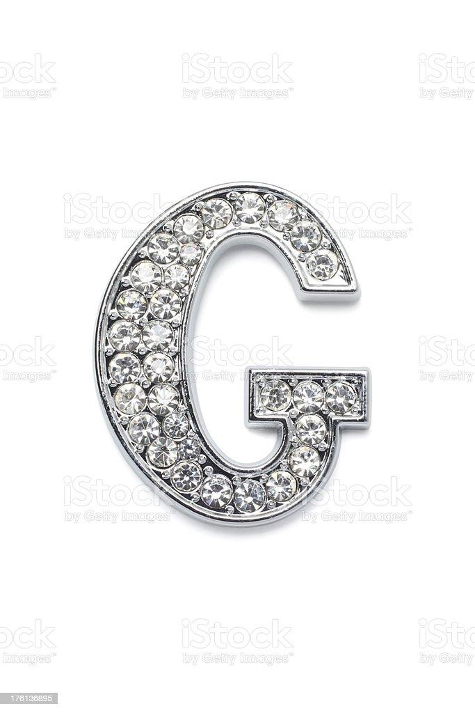 Diamond Alphabet G stock photo