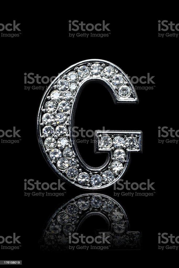 Diamond Alphabet G royalty-free stock photo