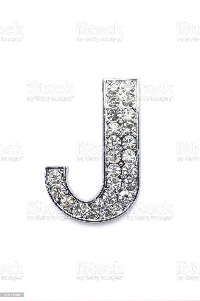 Diamond Alphabet J royalty-free stock photo