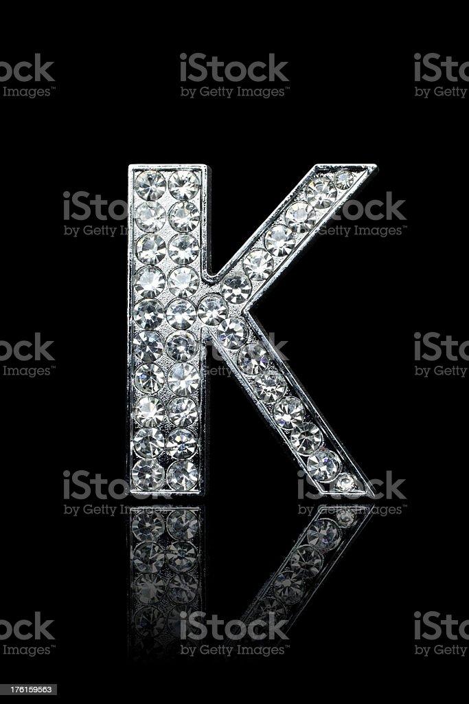Diamond Alphabet K royalty-free stock photo