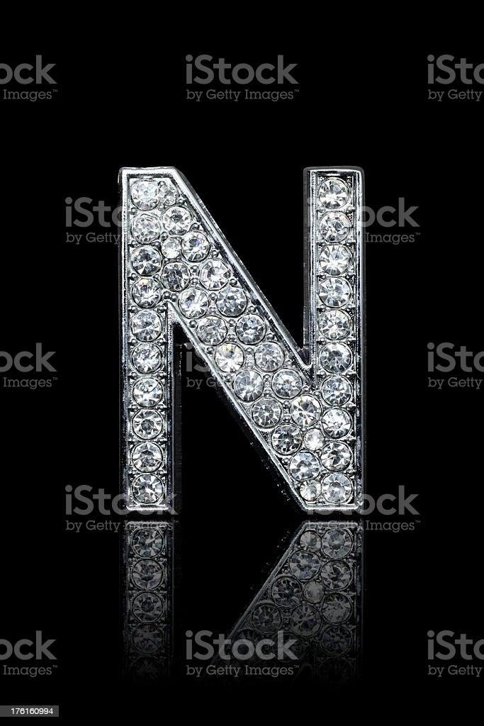 Diamond Alphabet N royalty-free stock photo