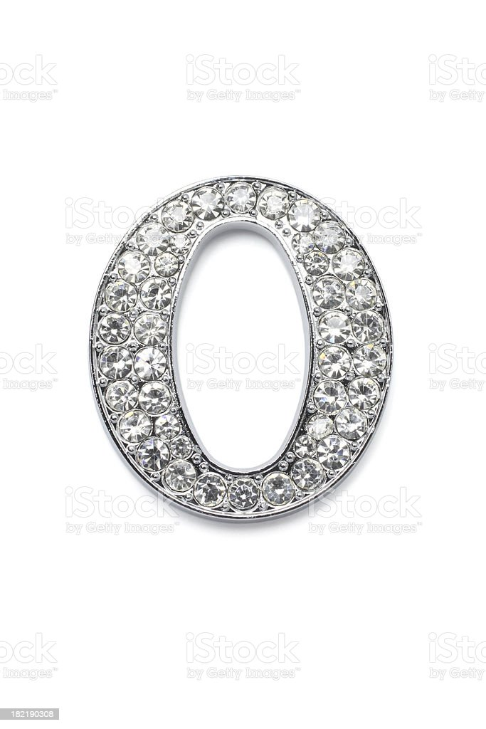 Diamond Alphabet O royalty-free stock photo
