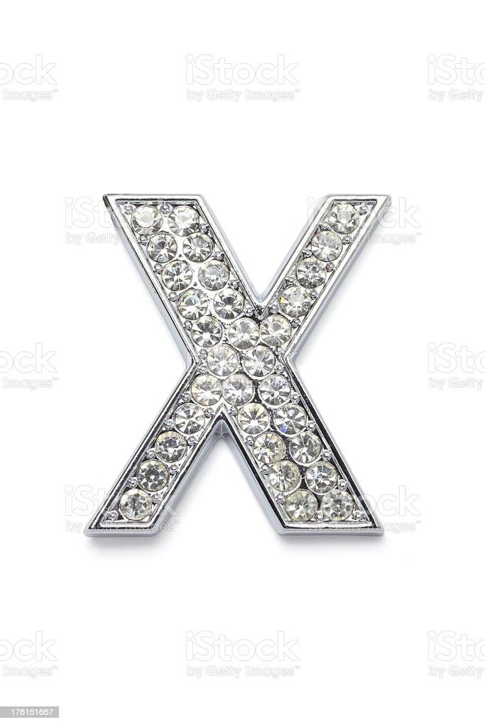 Diamond Alphabet X royalty-free stock photo