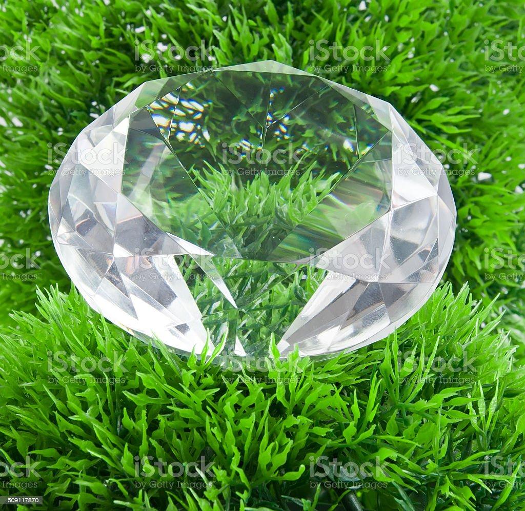 diamond and grass stock photo