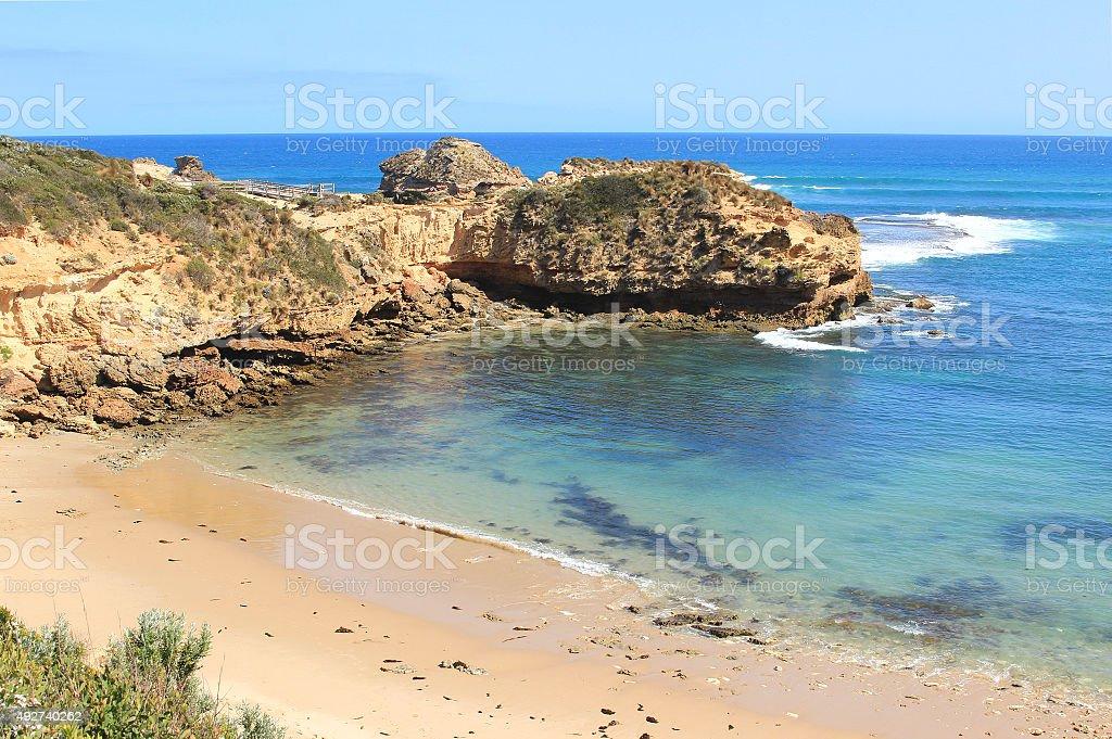 Diamond bay beach stock photo