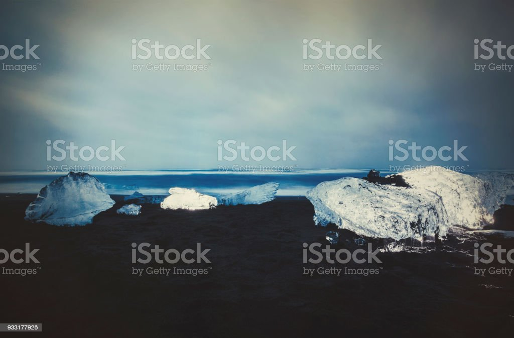 diamond beach, Iceland stock photo