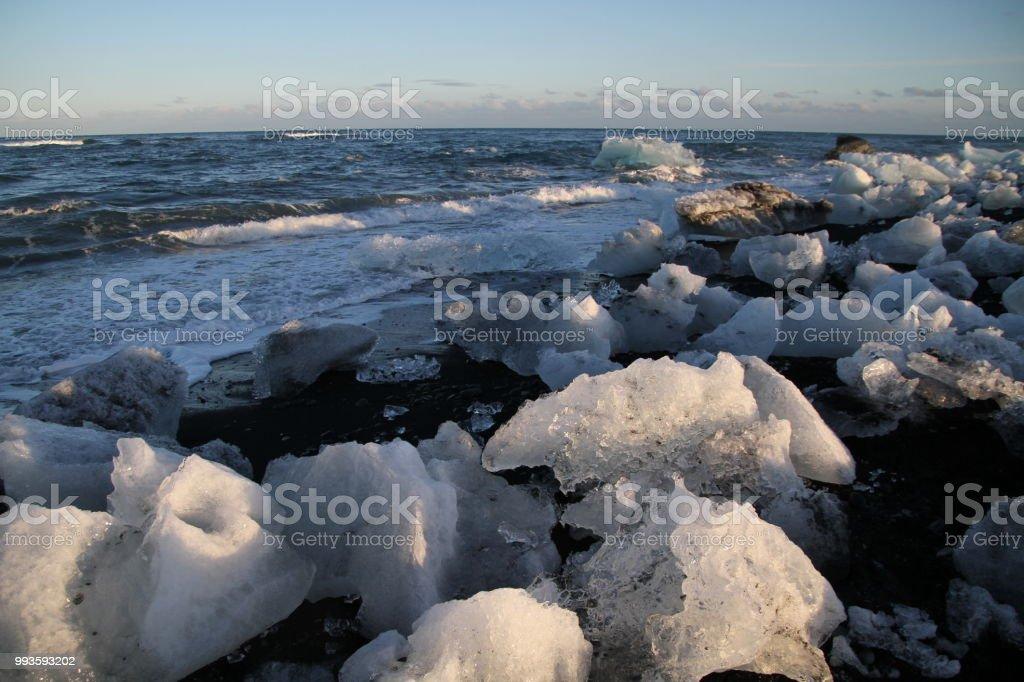Diamond Beach Jokulsarlon Iceland Stock Photo More Pictures Of