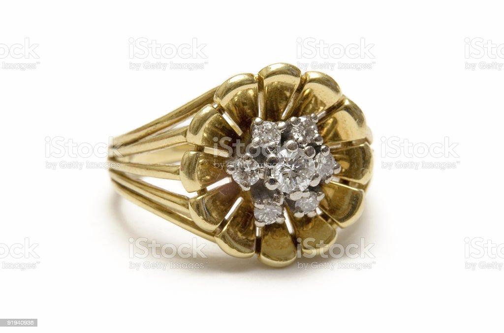 Diamond Blossom Goldring - Macro royalty-free stock photo